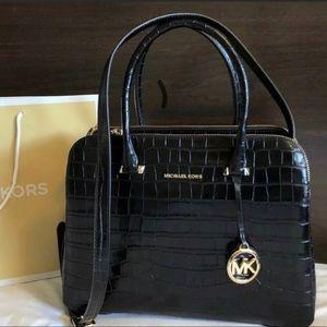 $328 Michael Kors Houston Zip Handbag MK Purse Bag